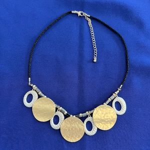 Gold and Silver Toned Choker Necklace